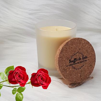 Bougie naturelle parfumée - Rose passion