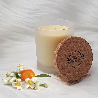 Bougie naturelle parfumée - Fleur d'oranger