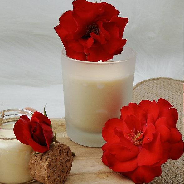 Bougie Bien-être 100% naturelle Senteur Rose passion