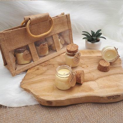 Coffret de 3 petites bougies parfumées