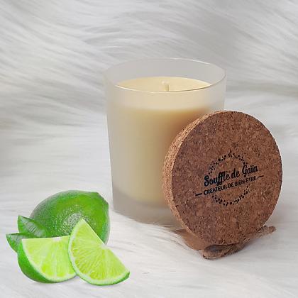 Bougie naturelle parfumée - Citron vert
