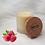 Thumbnail: Bougie naturelle parfumée - Coeur de framboise