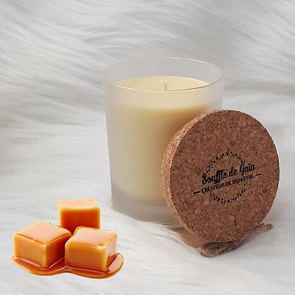 Bougie naturelle parfumée - Caramel d'antan