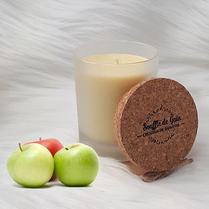 Bougie naturelle parfumée - Pomme croquante
