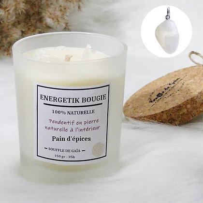 Bougie naturelle parfumée - 𝐏𝐚𝐢𝐧 𝐝'𝐞́𝐩𝐢𝐜𝐞𝐬 - Pendentif