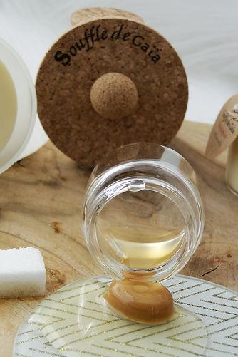 Caramel  bougie naturelle souffle gaia 2