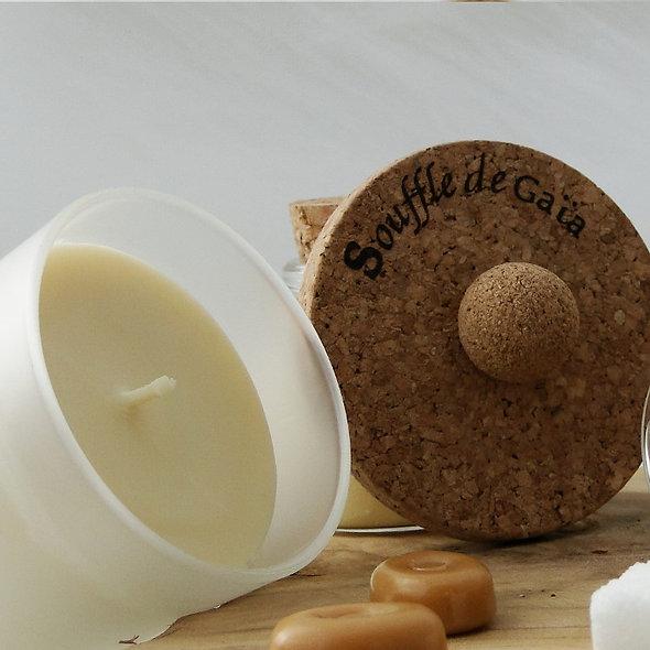 Bougie Bien-être 100% naturelle Senteur Caramel d'antan