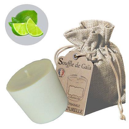 Recharge de Bougie Bien-être 100% naturelle Senteur Citron vert