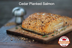 BBQ Pro Shop Factory Team Recipe for Cedar Planked Salmon