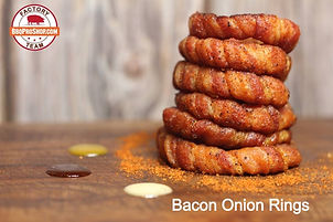 BBQ Pro Shop Factory Team Recipe for Smoked Bacon Onion Rings