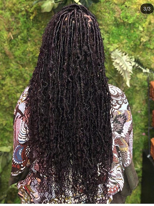 Waist Length Island Loc Kit/with instant loc hair attached (Island cu