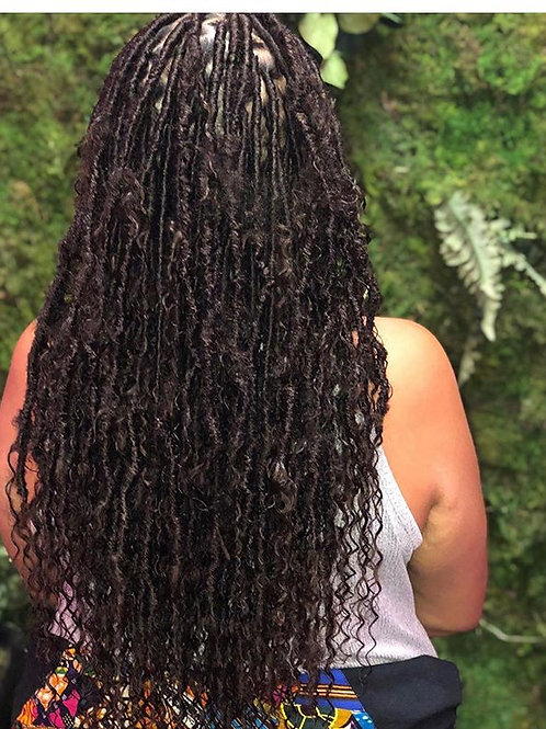 Mid Back Length Island Loc Kit/with instant loc hair attached (Island Curl)