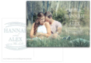 Cstom designs on save the date cards and wedding invitations