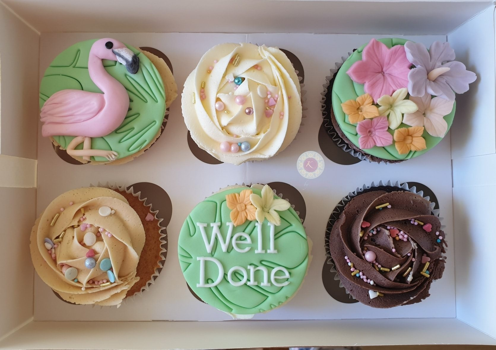 Cupcakes - Flamingo well done