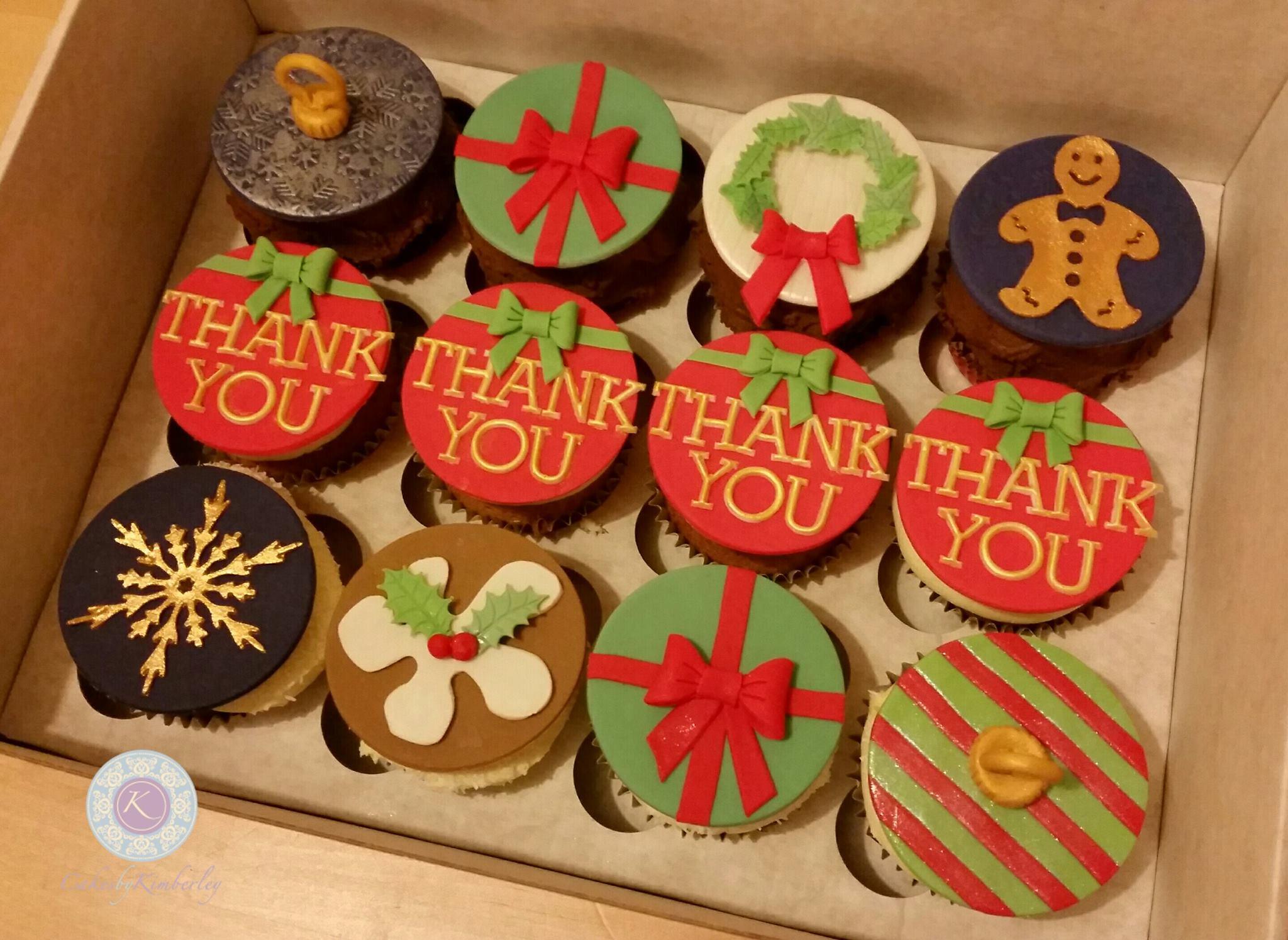 xmas thank you cupcakes