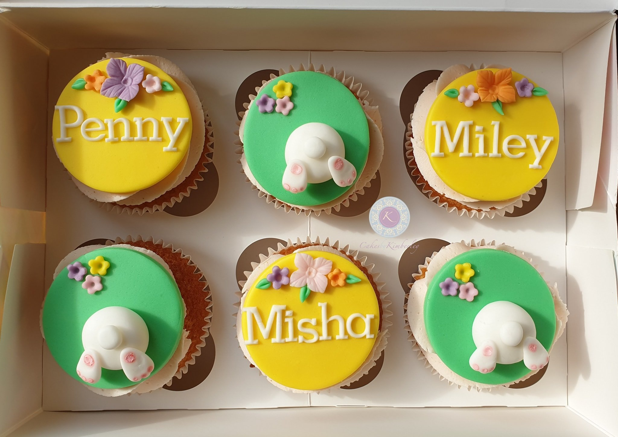 Cupcakes - easter bunny bums