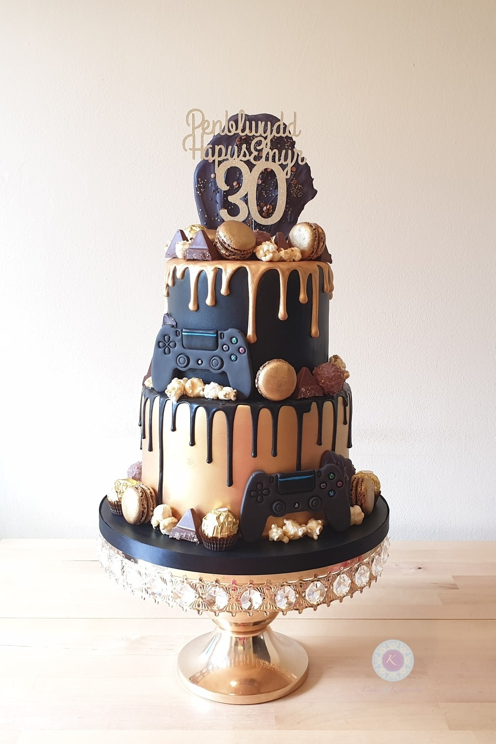 Drip cake - balck and gold PS