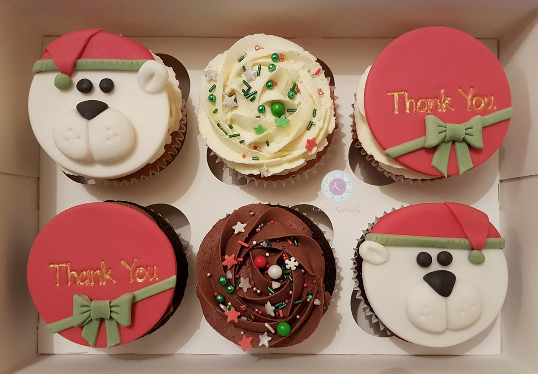 Cupcakes - xmas bears 6