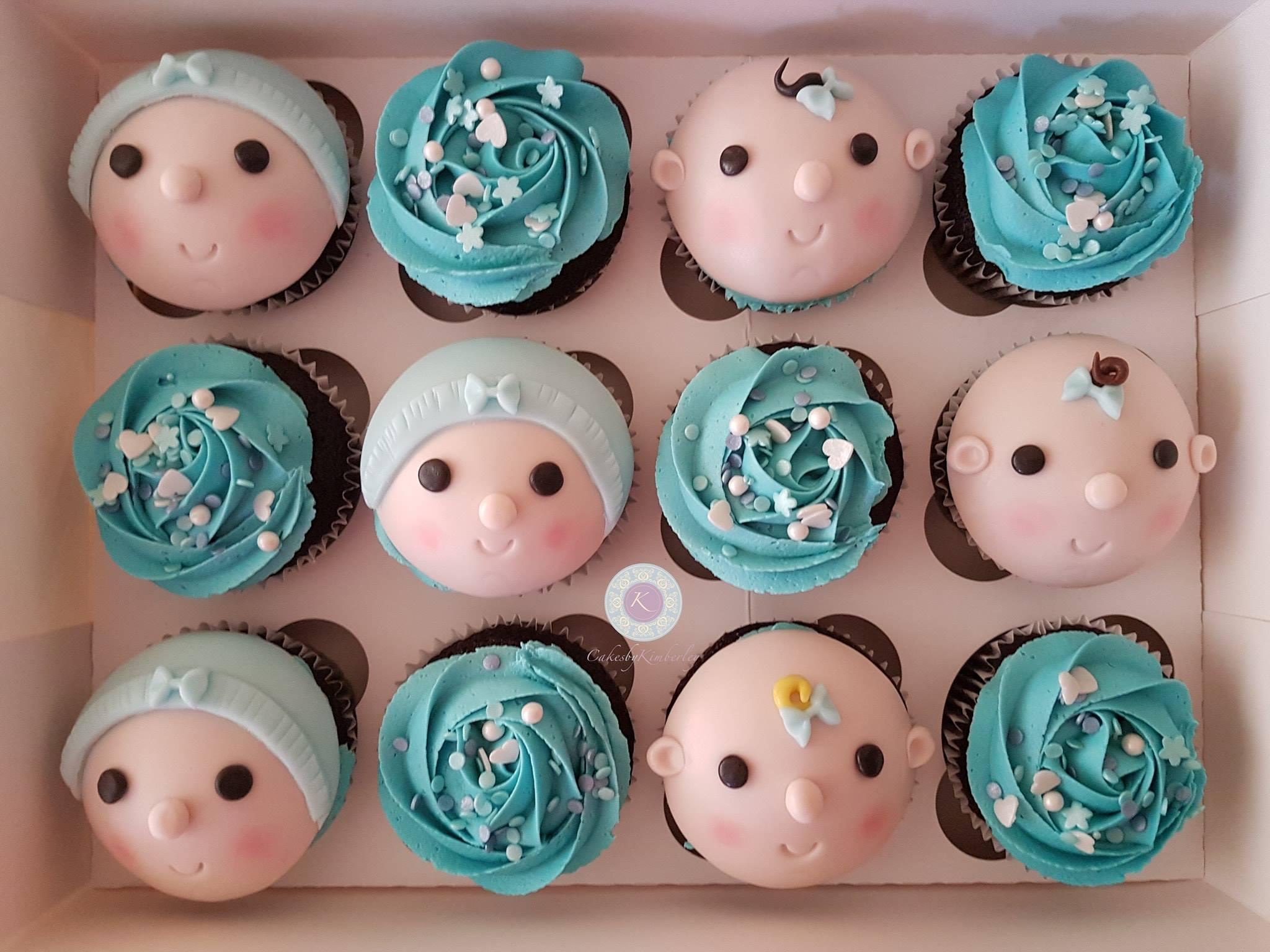 Cupcakes - baby boys