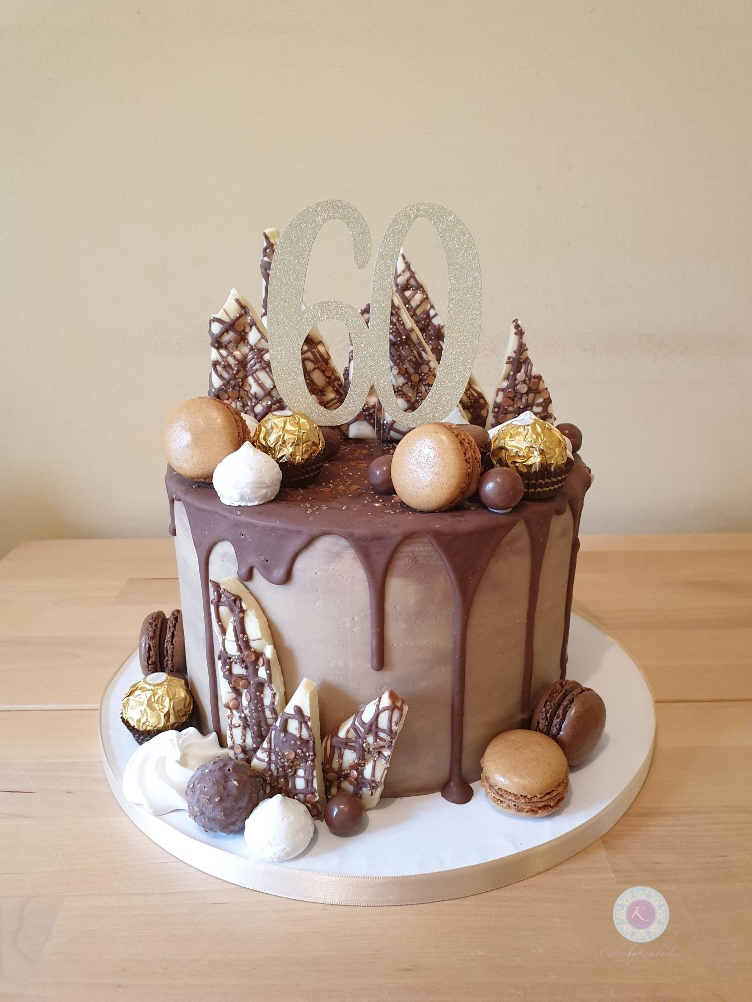 Drip cake - Cathy 60th