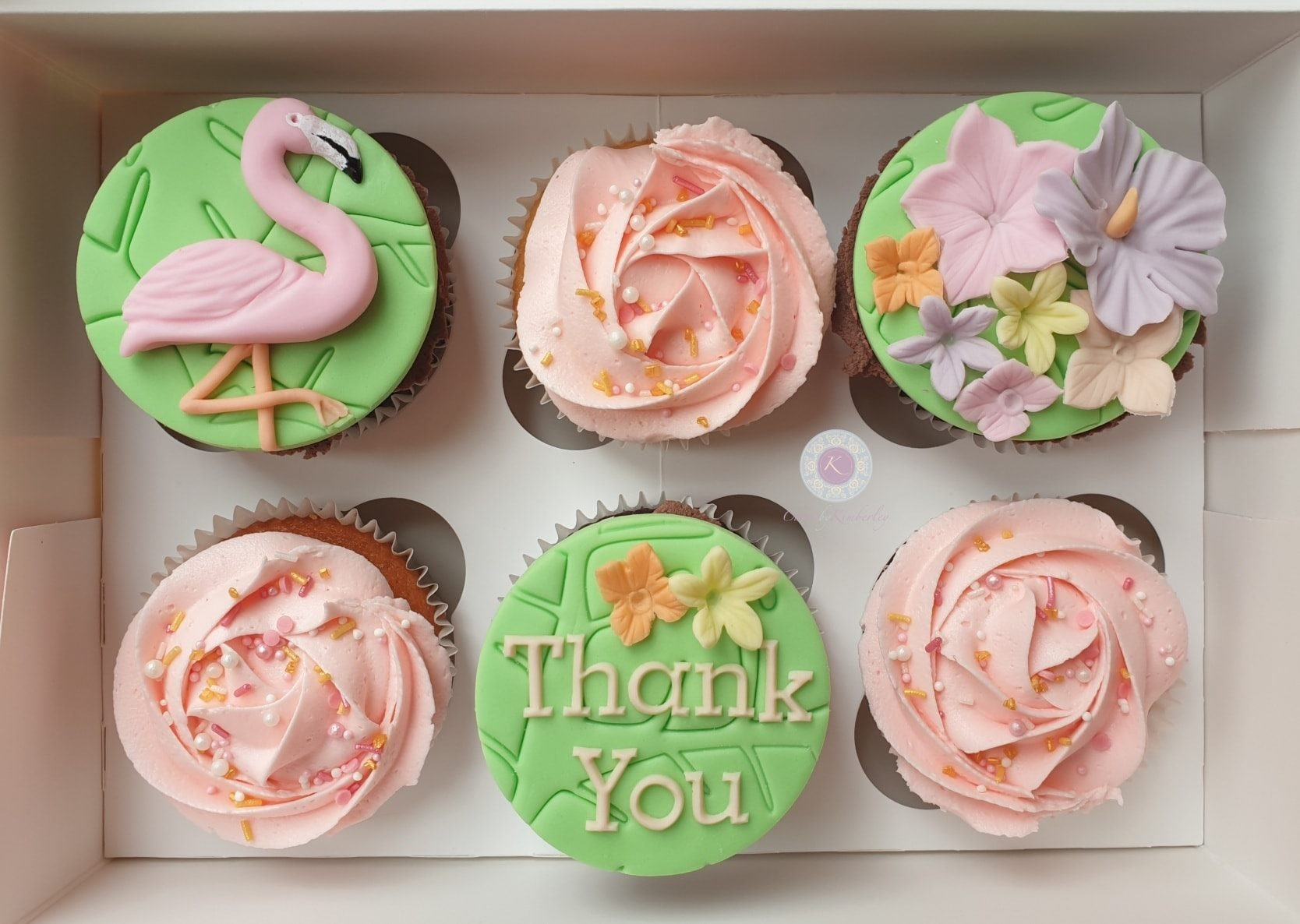 Cupcakes - tropical thank you