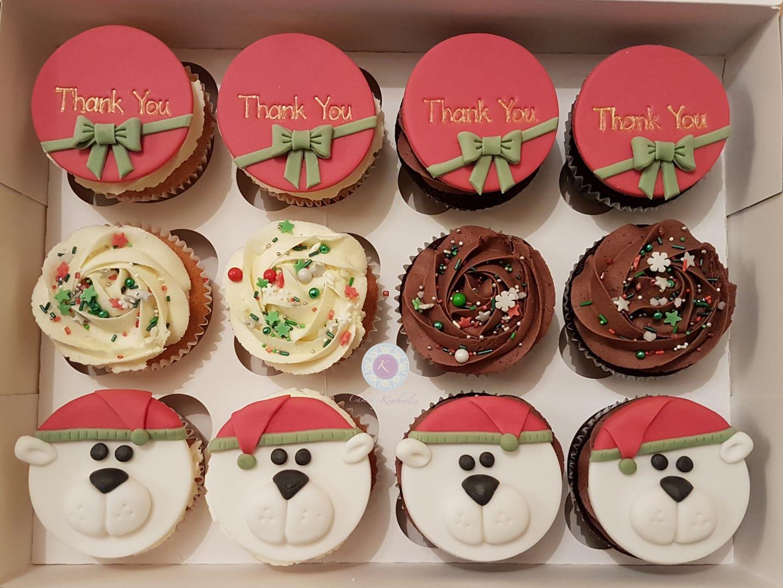 Cupcakes - xmas bears
