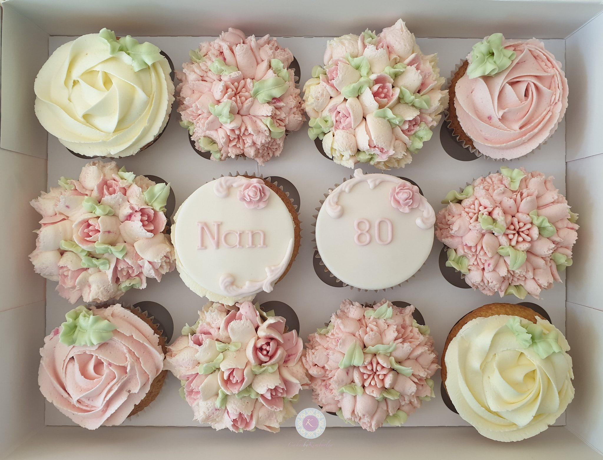 Cupcakes - Nan 90th flowers
