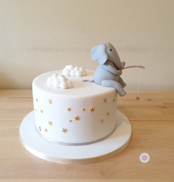 Baby shower - elephant & stars