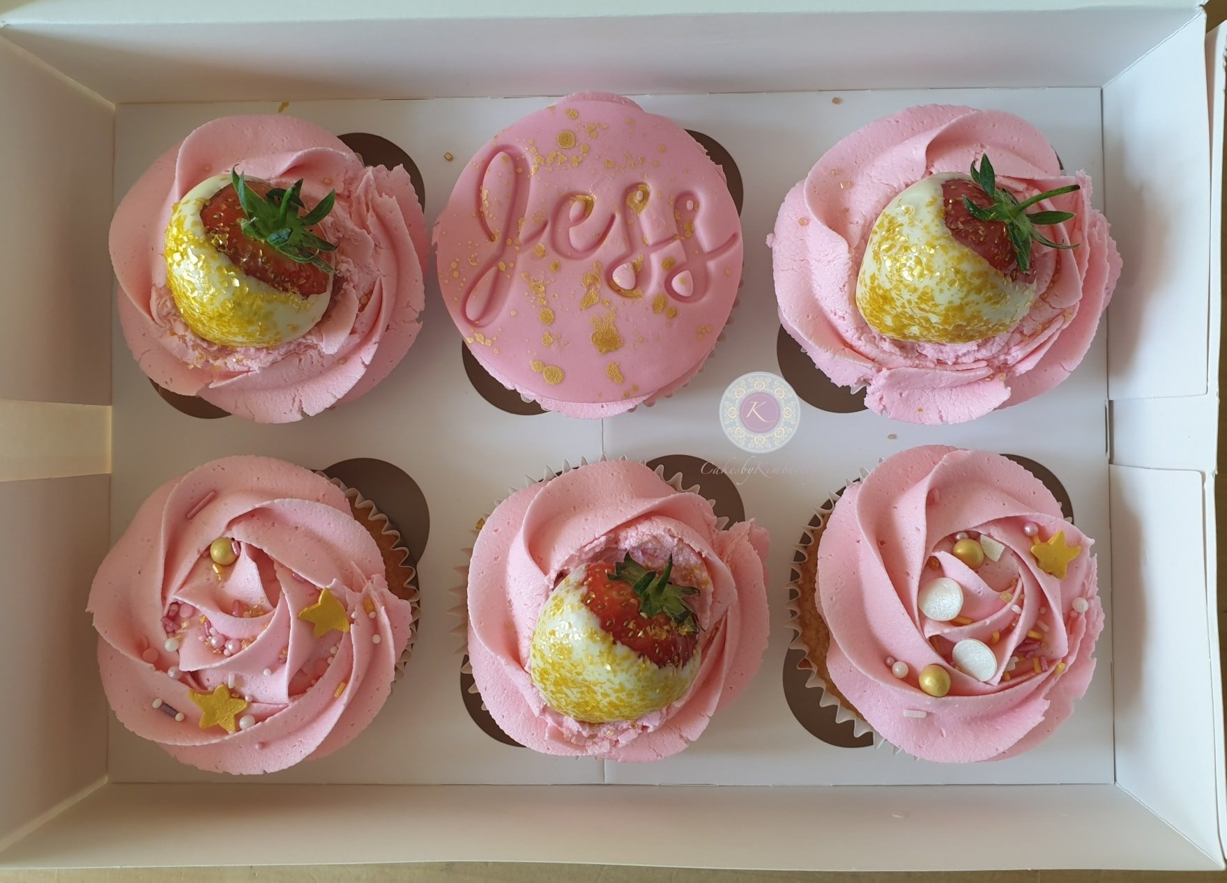 Cupcakes - Pink & gold