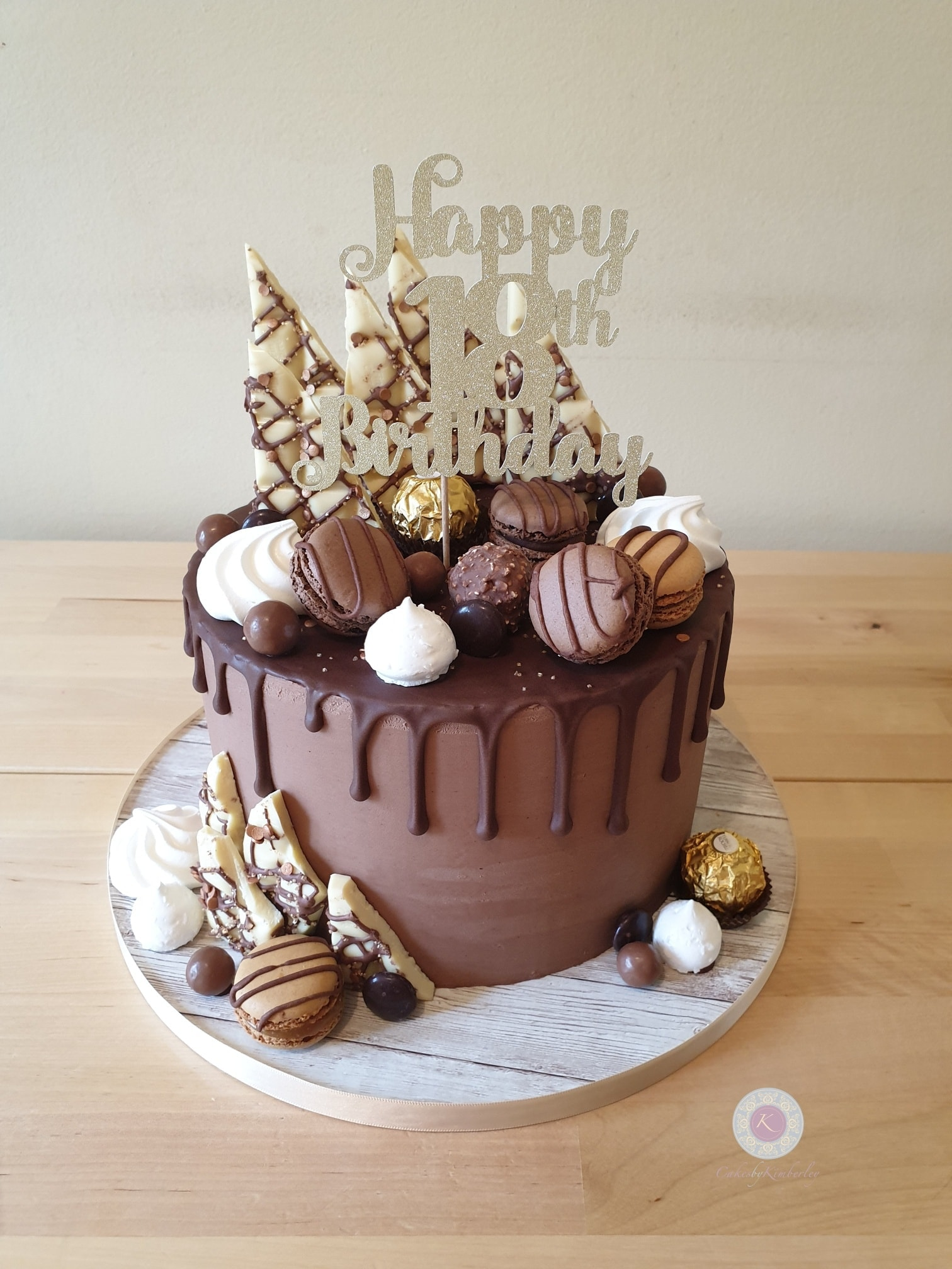 Drip cake - chocolate 18th