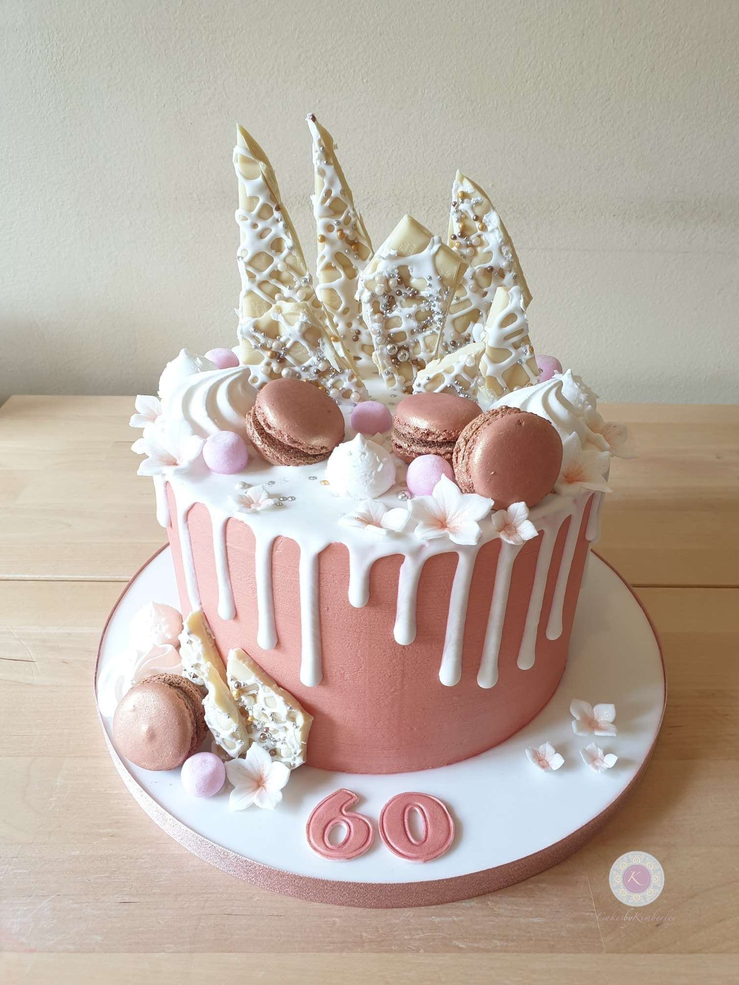 Drip cake - rose gold 60th