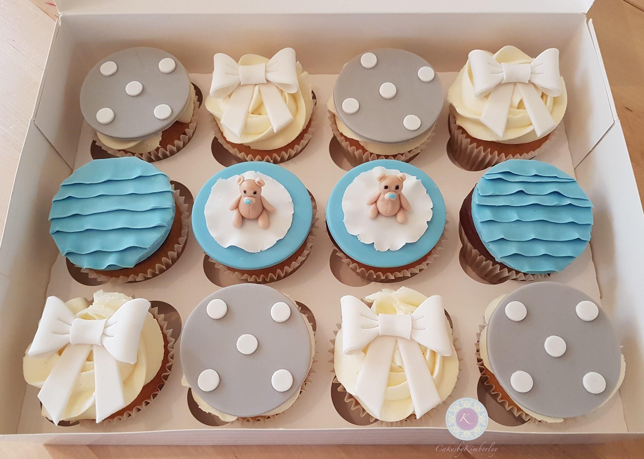 Cupcakes - Baby shower teddies