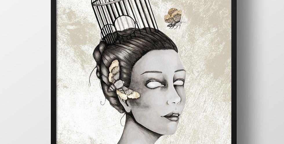 Moth Priestess DinA3 Poster