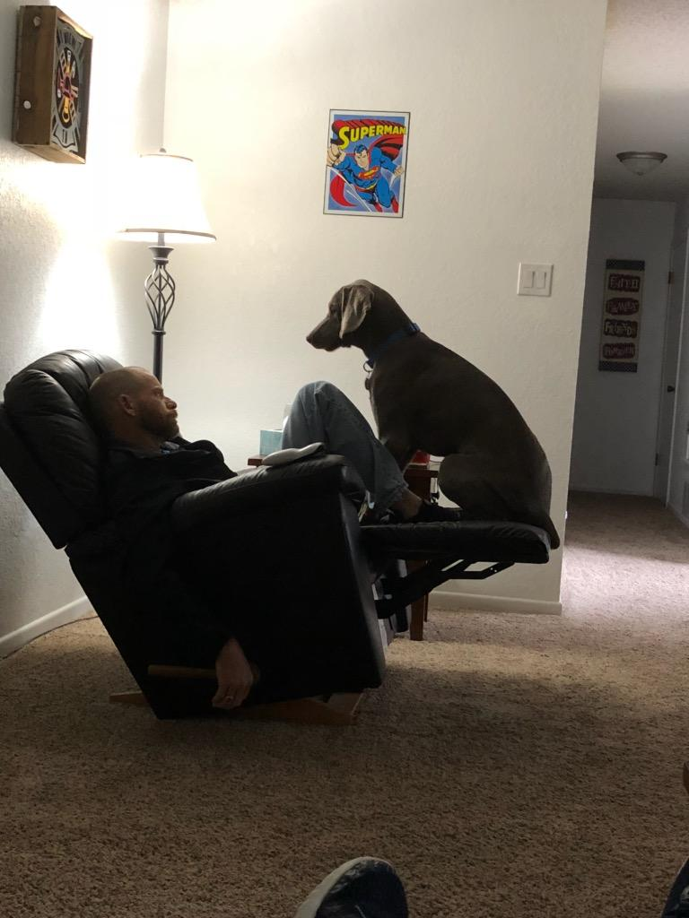 You're in my spot, Dad_