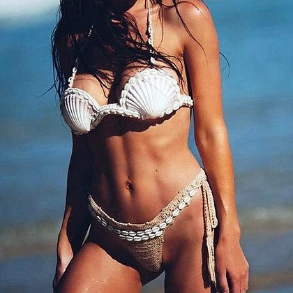 Fake Shells Bikini Set Gypsy Boho Ethnic Hippie Maillot de bain Coquillages Beachlife