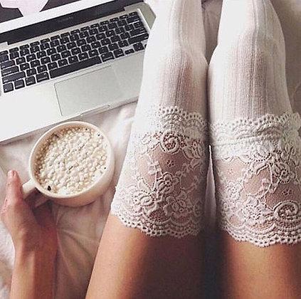 Chaussettes Montantes Dentelle et coton Girly Mode