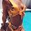 Thumbnail: Bikini Taille Haute Jaune Fleuri Bora Bora