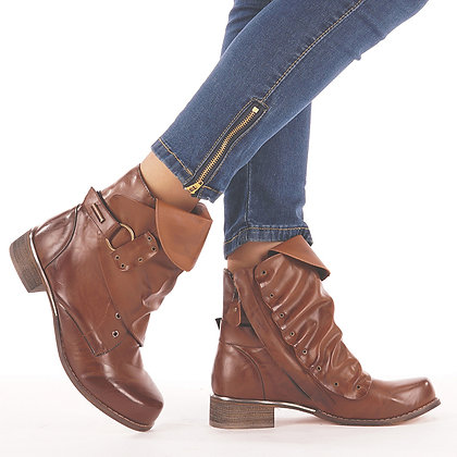 Bottines Cuir Boucles originales Leather Boots