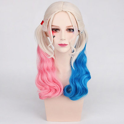 Perruque Suicide Squad Harley Quinn Cosplay Joker Couettes