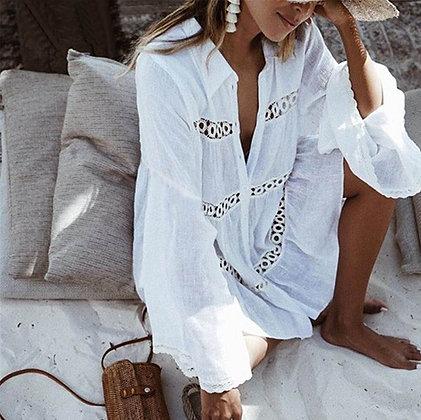 Blouse Oversize Blanche Bohemia Queen blouse folk zara blanche jodie la petite frenchie style 2019 asos mode robe blanche