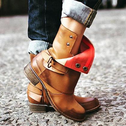 Bottines Intérieur rouge cuir montantes Leather boots