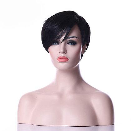 Perruque Courte coupe Garçonne Brune Black Short Hair Wig Aleen 20cm