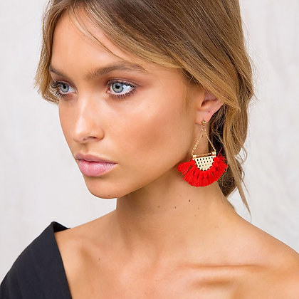 Boucles d'oreilles Dorées Tassel Gold Earrings Colorfull Juran