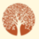 Orange tree of life graphic logo