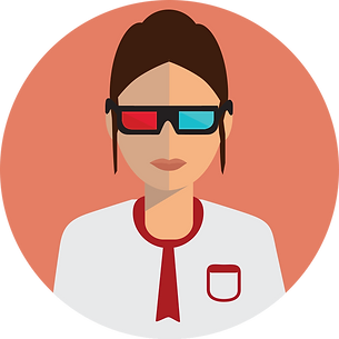 3d glasses female vector.png