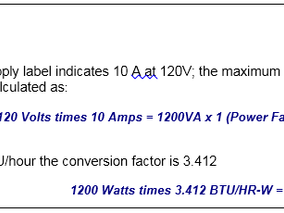 BTU Calculations for Lasers