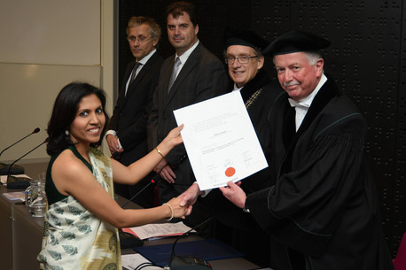 Recieving my PhD