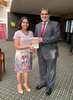 With Indian Ambassador to the Netherlands, Mr. Venu Rajamony.