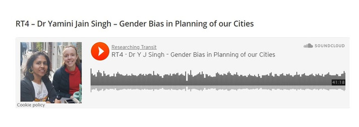 Podcast - Gender Bias in Planning of our cities