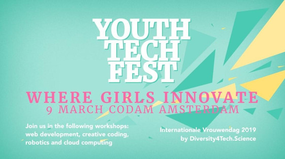 Youth Tech Fest for girls and boys (age 11-18) 2019
